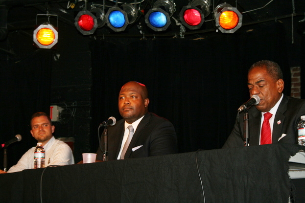 Candidates from L to R: David Garber is running for DC Council At-Large, Leon Andrews is running in Ward 4, and incumbent Vincent Orange (A-L) running for re-election. Image Courtesy of Chloe Sommers