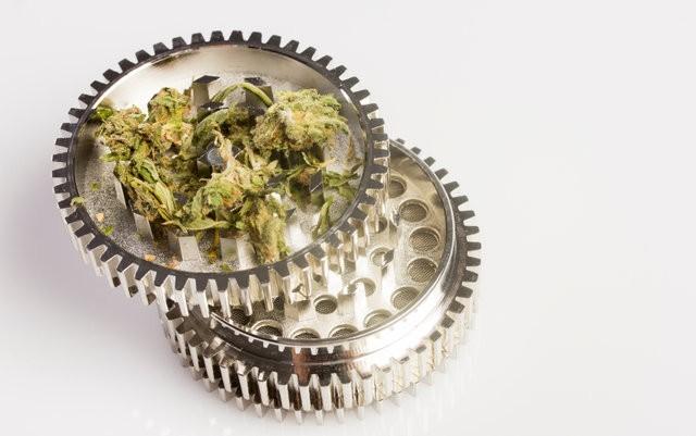 Detail of a marijuana grinder