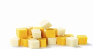 Cubes of Cheddar and Mozzarella Cheese