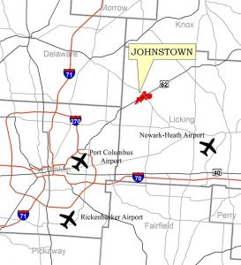 Johnstown, Ohio is part of the Columbus metro region and has a robust transportation network. Courtesy: Johnstown Ohio Economic Development Facebook