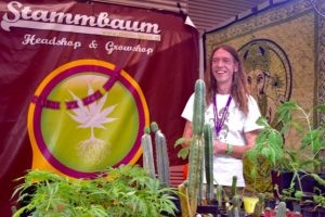 Hans Christian and his magical plants. Image Courtesy of Percy Grower