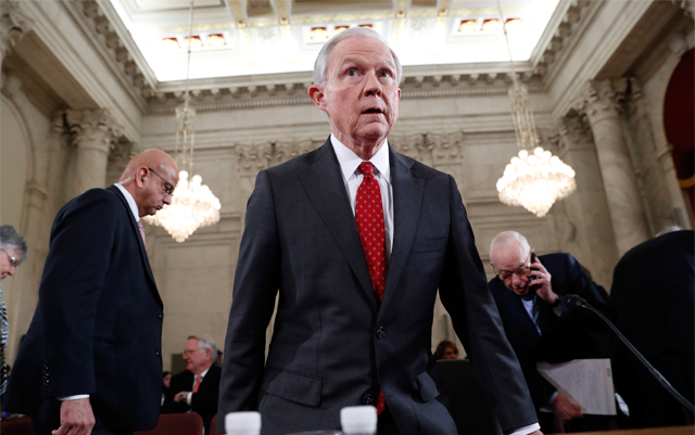 Jeff Sessions approved by Judiciary Committee after another bitter hearing