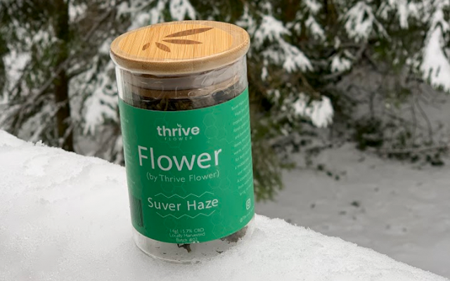 thrive flower suver haze CBD flower